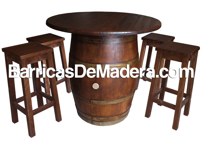 Barrica mesa, barril con tapa, tonel mesa (1)