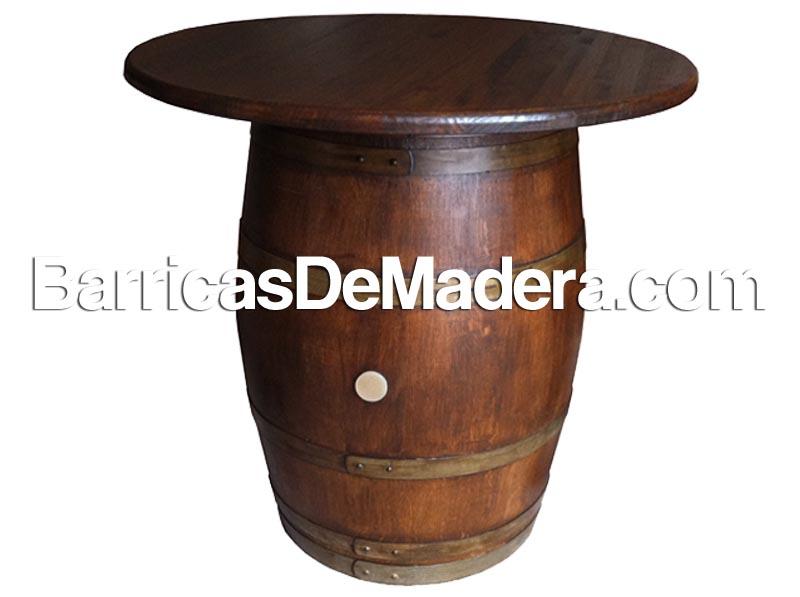 Barrica mesa, barril con tapa, tonel mesa (2)