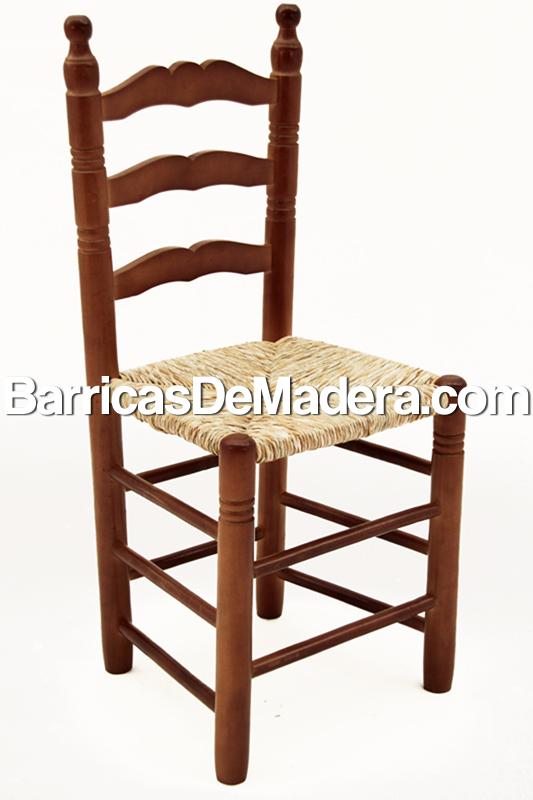 Silla de madera de chopo con asiento de - Reciclaje de maderas usadas ...