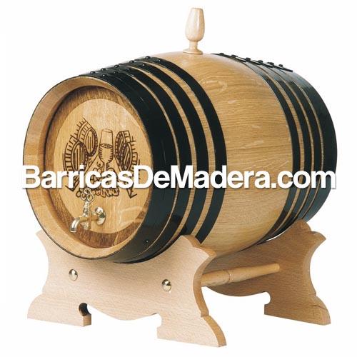 barril con pie bajo tablilla anagrama bodega grabado barricas de madera Barricas nuevas
