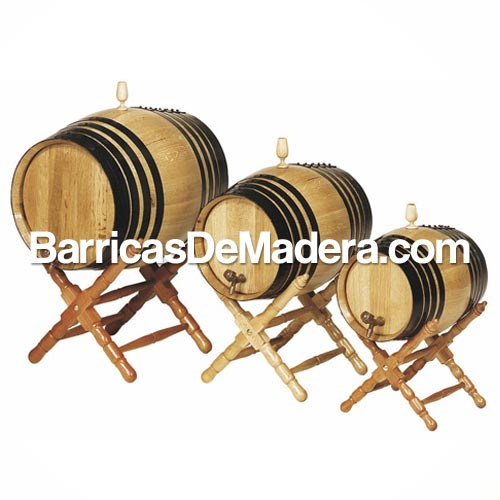 barril con pie bajo torneado barricas de madera Barricas nuevas
