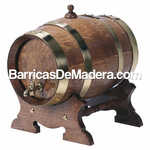 barril en nogal aros y grifo metal barricas de madera Barricas nuevas