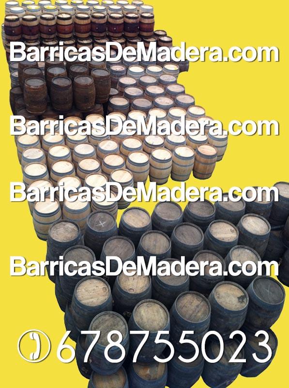 Almacén de barricas usadas