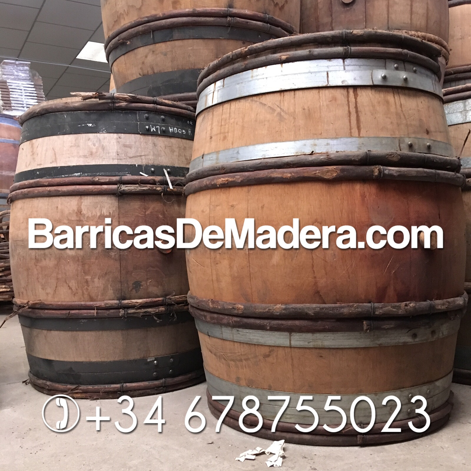 used oak barrels decoration